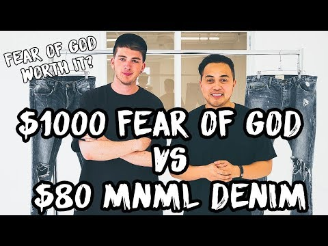 MNML $80 vs Fear of God $1000 Denim Comparison and Review Feat. Gallucks