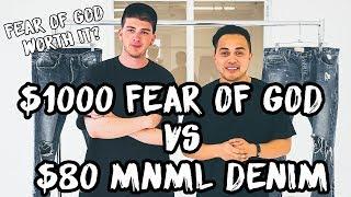 MNML $80 vs Fear of God $1000 Denim Comparison and Review Feat. Gallucks