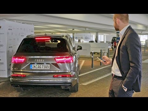 Автоматическая парковка Audi Q7 2018 тест-драйв