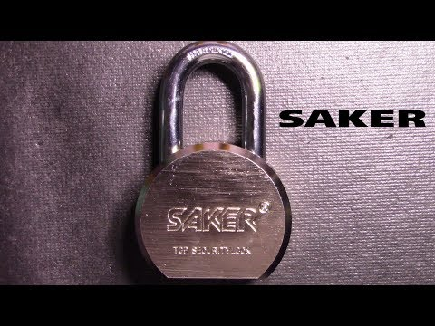 (078) Saker Maximum Security Padlock Bypassed/Picked/Gutted