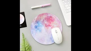Galaxy Moon Mouse Pad