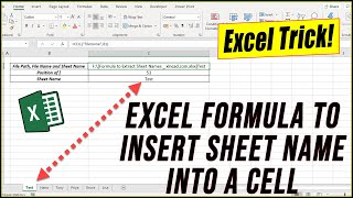 Formula to Insert Sheet Name in Excel