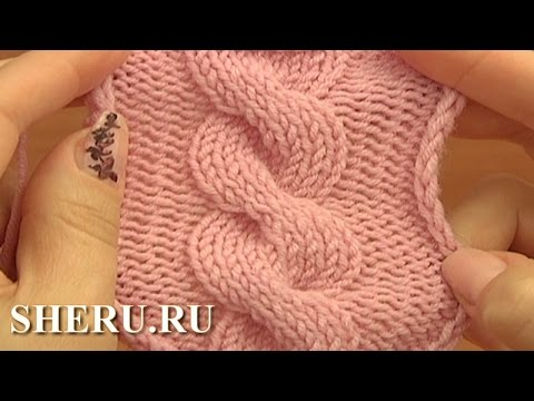 Knitted Cable Stitch Pattern Урок 12 Вязание кос спицами