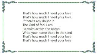 Chuck Prophet - That's How Much I Need Your Love Lyrics