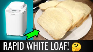 Panasonic SD-2511 Review    Let's Make a RAPID WHITE LOAF 1hr 55mins   Panasonic Bread Maker Recipes