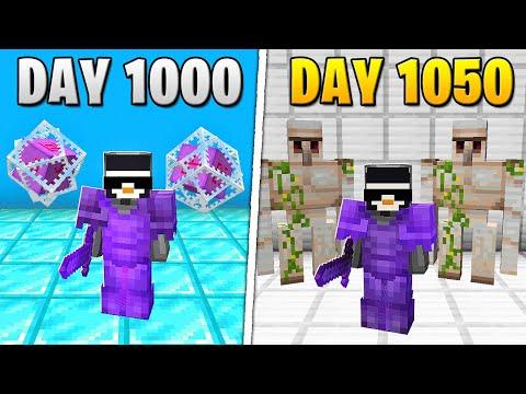 I Survived 1,050 Days in HARDCORE Minecraft...