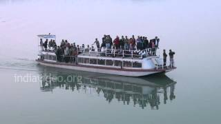 Boating in Brahmaputra River, Assam