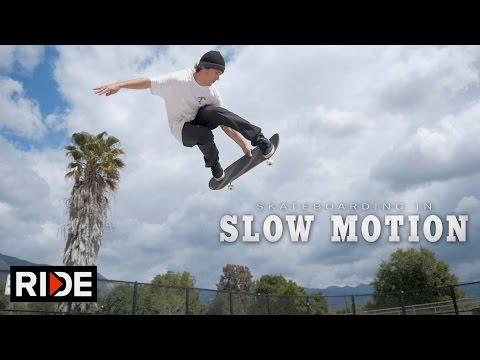 Brad McClain Skateboarding in Slow Motion - Ojai Skatepark
