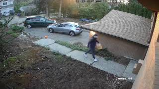 Package Thief Caught Casing My House.  Returns for Theft