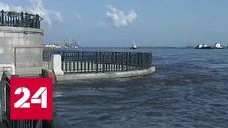 Паводок в Амурской области обрушил в реку строительный кран - Россия 24