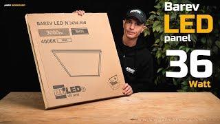Videó: Kanlux - Barev 36 Wattos LED panel kicsomagolás, teszt