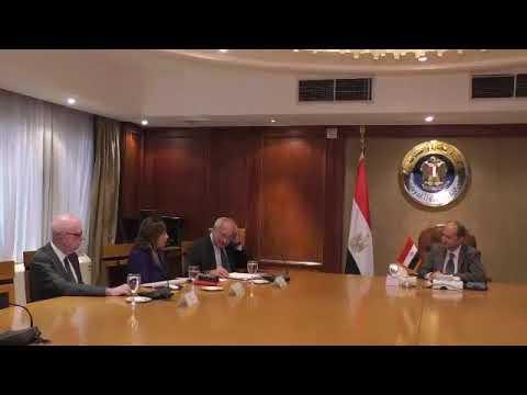 لقاء المهندس/عمرو نصار وزير التجارة والصناعة مع أعضاء مجلس الاعمال المصرى الفرنسى
