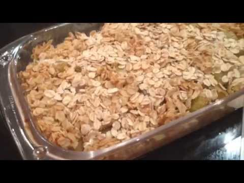 Video Pear and apple crumble recipe - Healthy Dessert