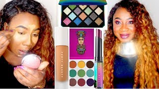 NEW FENTY BEAUTY GALAXY COLLECTION + FIRST LAUNCH FULL FACE MAKEUP LOOK | ROSEYLAFLEUR