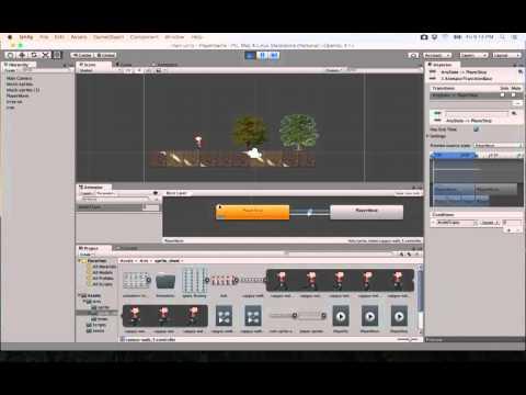 12- Unity 2D||  animations state machine حالة الاعب