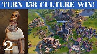 1: Turn 158 Deity Culture Victory - Greece (Pericles) - Civ 6