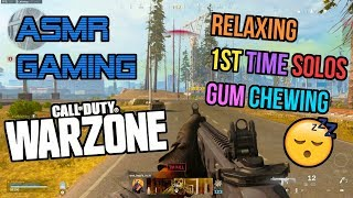 ASMR Gaming | Call of Duty Warzone Relaxing 1st Time Solos Gum Chewing 🎮🎧 Controller Sounds 😴💤