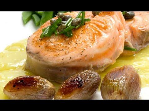 Receta de salmón con crema de puerros y verduras - Karlos Arguiñano