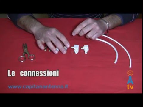 Come fare lo spinotto antenna tv - parte 1