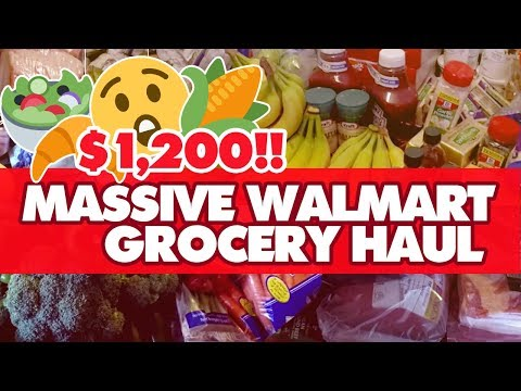 $1,200 MASSIVE WALMART ONLINE GROCERY ORDER & PICK UP HAUL | Large Family Grocery Shopping!💃 💃💃