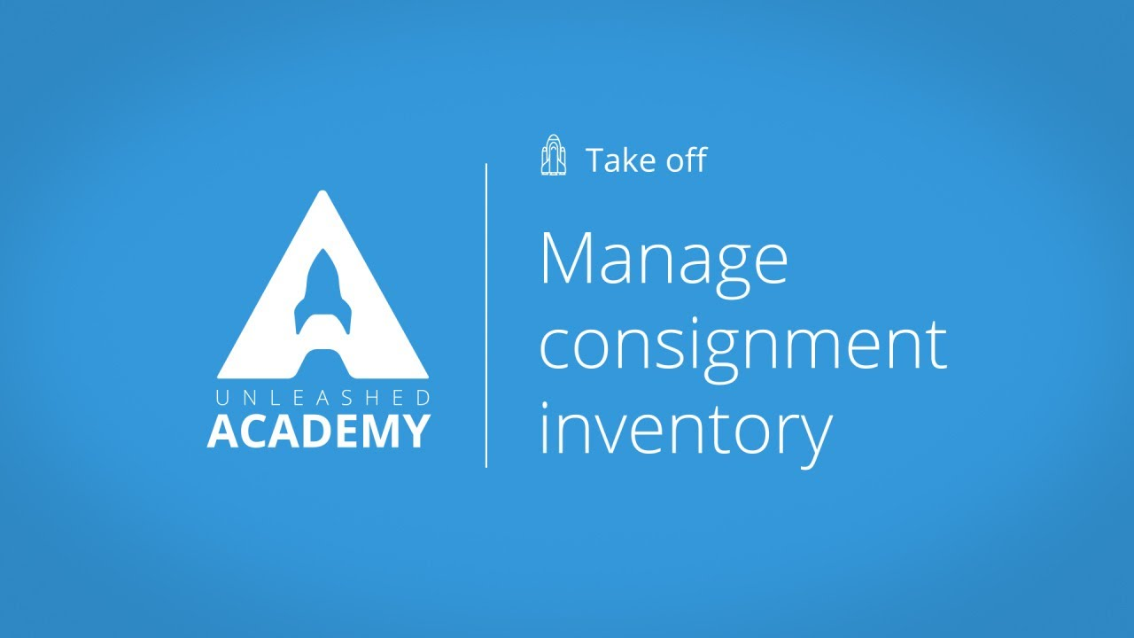 Manage consignment inventory YouTube thumbnail image