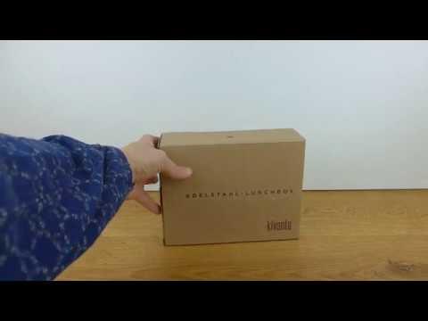 Kivanta Edelstahl Brotdose XL aus 18/8 Edelstahl