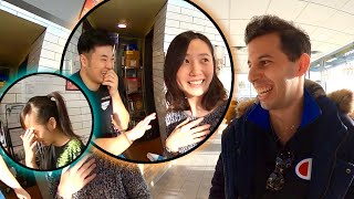 White Guy Speaks Perfect Chinese in Boba Shop, Befriends Everyone!