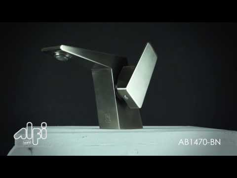 Video for Brushed Nickel Modern Single Hole Bathroom Faucet