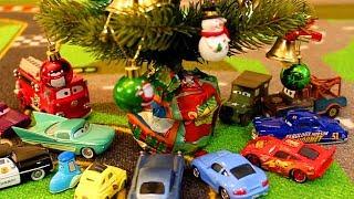 Новый Год Мультики про Машинки Тачки Молния Маквин Полицейская Машина Lightning McQueen Cars
