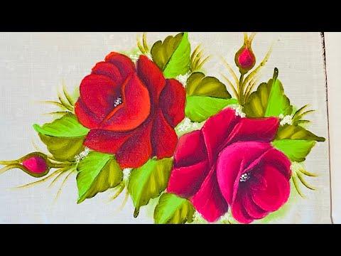 Rosas vermelhonas