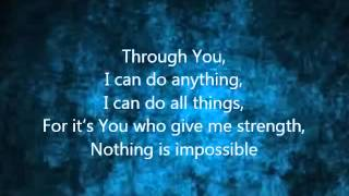 Through you i can do anything lyrics