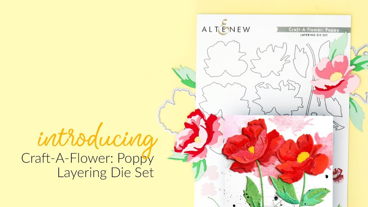 Altenew Craft-A-Flower: Poppy -stanssisetti