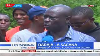 Wenyeji wa Nyeri wataka daraja lijengwe katika eneo la Sagana