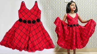 Very Cute Frock Design For Baby Girls // Cutting And Stitching