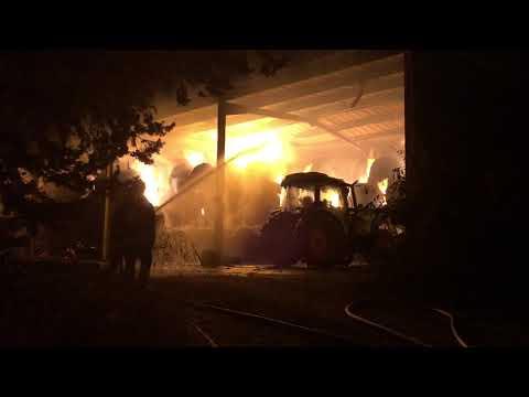 Corse. VIDEO. Violent incendie dans un hangar agricole