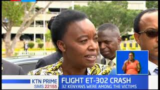 The body remains of Kenyans victims in the Ethiopian Airline jets in