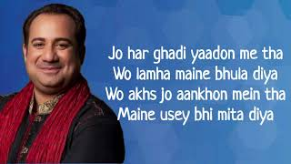 Mere Ankhon Se Nikle Ansoo LYRICS | Rahat   - YouTube