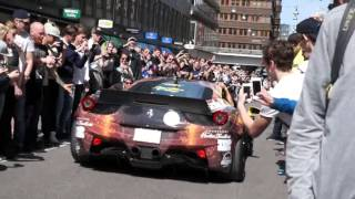 Start of the Gumball 3000 2015 , 458, LIBERTY WALK , FF , F50, C63 AMG , AMG GTS , Vipers