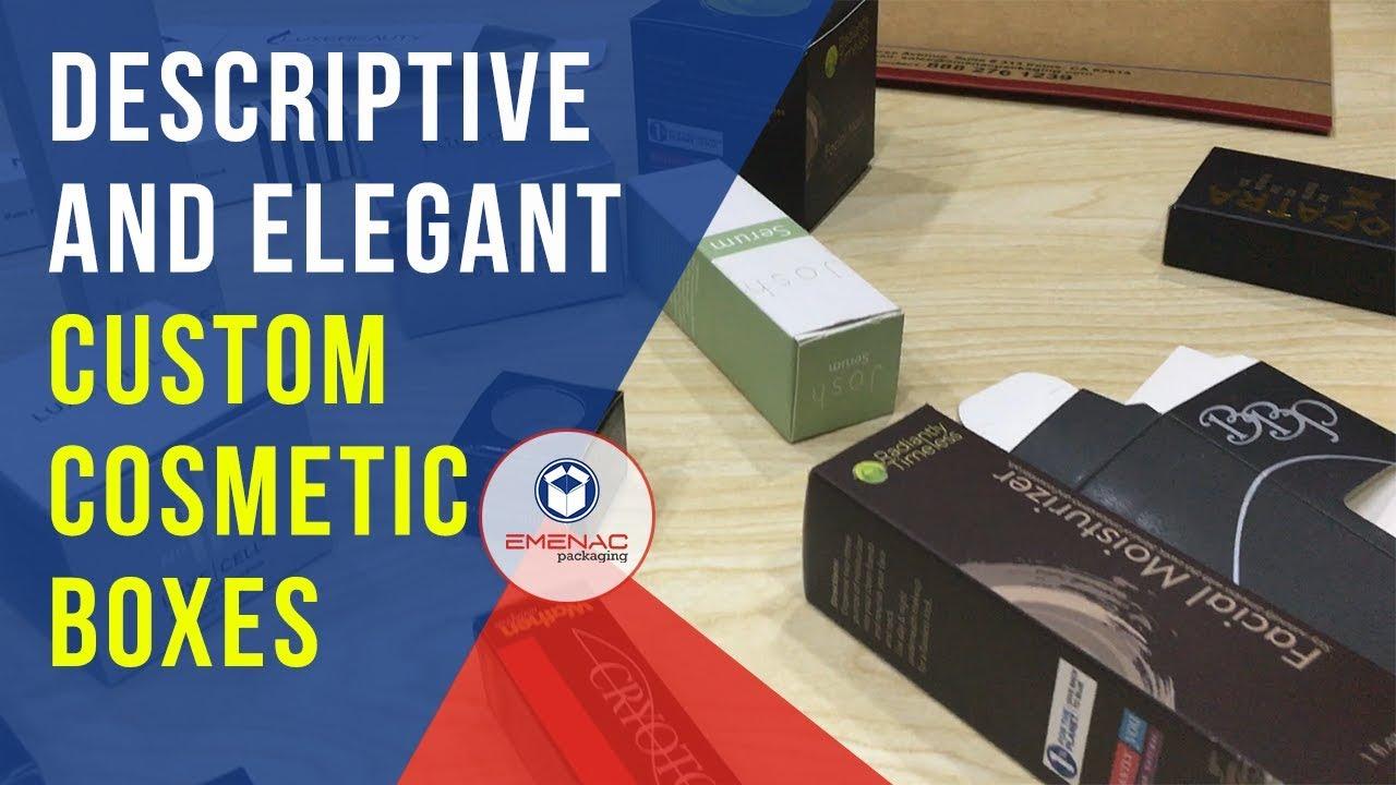 How Descriptive and Elegant Custom Cosmetic Boxes Can be? – Emenac Packaging