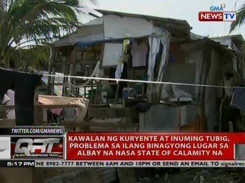 QRT: Kawalan ng kuryente at inuming tubig, problema sa ilang binagyong lugar...