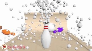Learn Colors with Bowling Balls for Children, Toddlers - Learn Colours for Kids With Bowling Balls