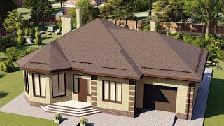 Проект дома 178-B, Площадь дома: 178 м2, Размер дома:  18,1x14,4 м