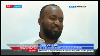 Governor Joho claims Jubilee is using guerrilla tactics to muscle them out of power