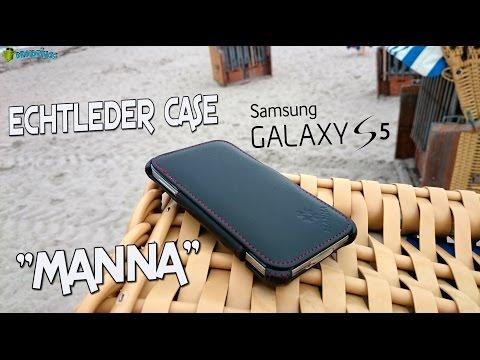 """ECHTLEDER HÜLLE """"MANNA"""" für SAMSUNG GALAXY S5"""
