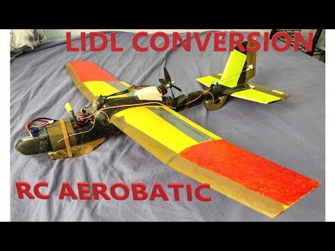 how-to-make-lidl-glider-conversion-to-aerobatic-rc-plane-spins-loopings-stalls-rc-diy