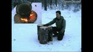 Смотреть онлайн Какие бывают виды костров: финская свеча