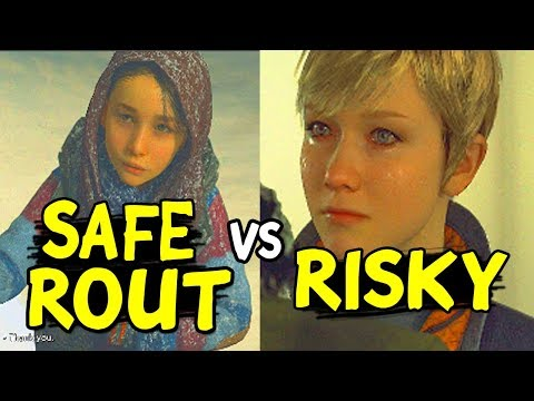 Choose Rout RISKY CHECKPOINT Vs DETOUR SAFER - Alternate Choices - Detroit Become Human