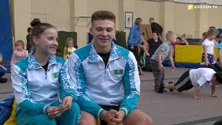 World champions in sports acrobatics Nikita Amoskin and Anastasia Dolgoniuk