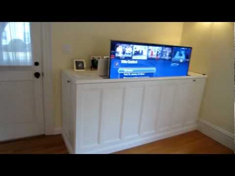 make a diy home theatre tv lift cabinet lifehacker australia. Black Bedroom Furniture Sets. Home Design Ideas