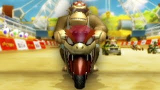 Mario Kart Wii - 200cc Mushroom Cup (Funky Kong Gameplay)